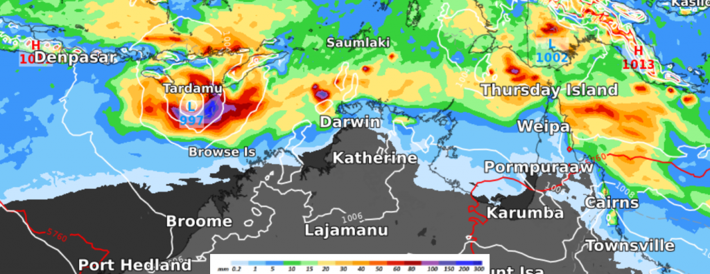 rain and mslp for 30.03.21